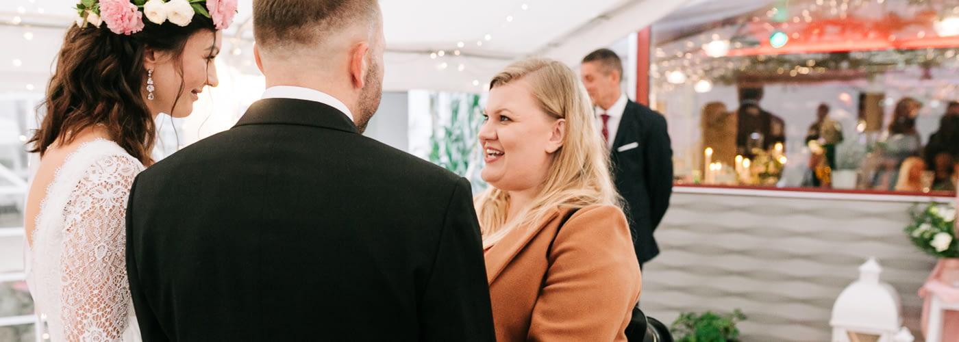Małgosia - Wedding planner w trakcie koordynacji wesela